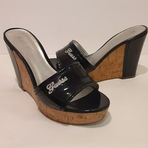 Guess Black Wedge Heel